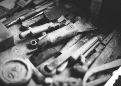 Clive Pearson's pottery tools