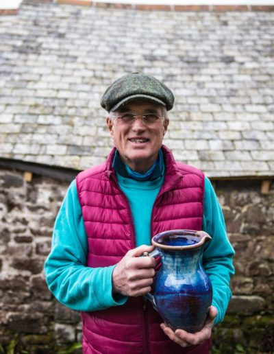 Clive Pearson Holding a pot
