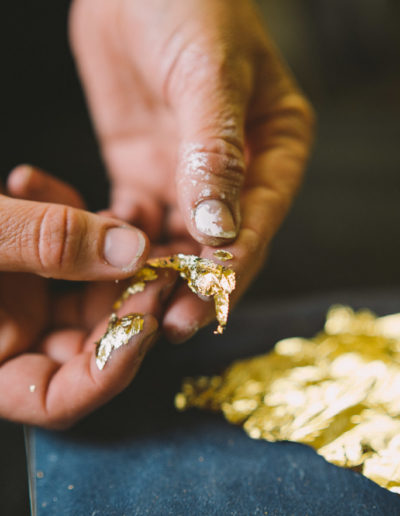 Danni handling gold leaf