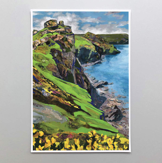 Valley of the Rocks Art Print