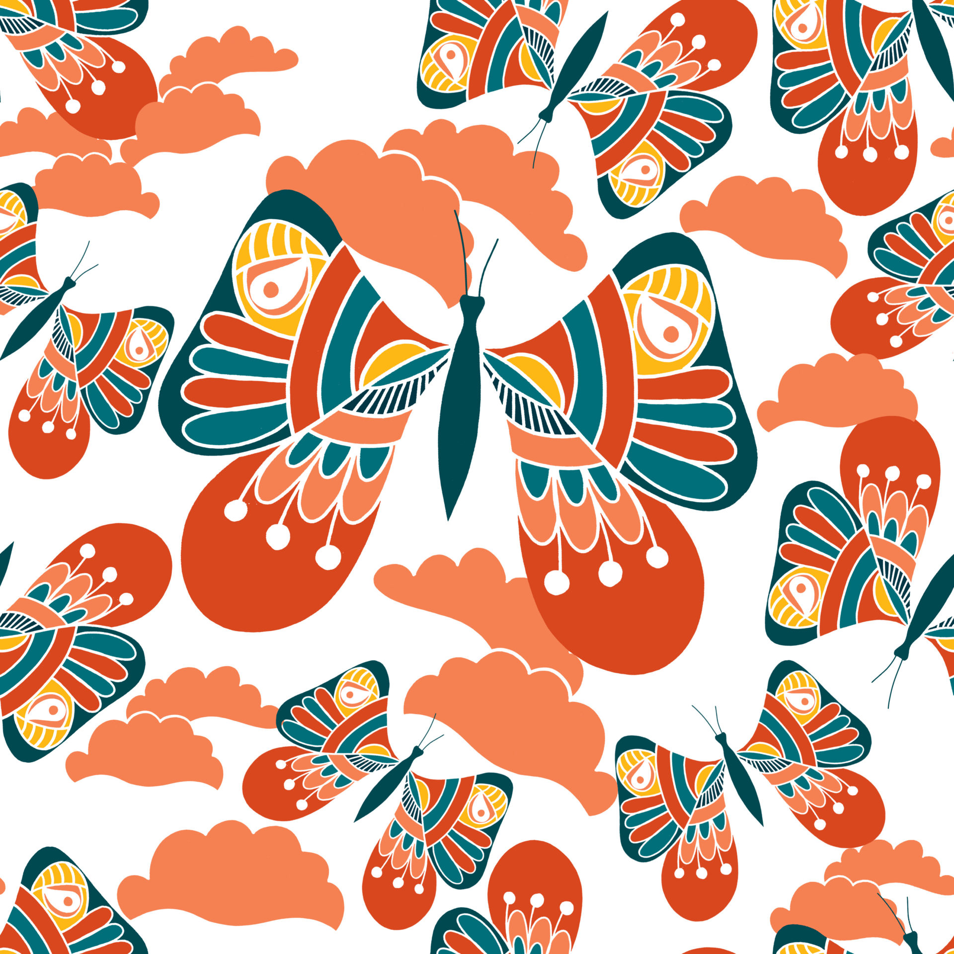 bright and colourful Butterfly design
