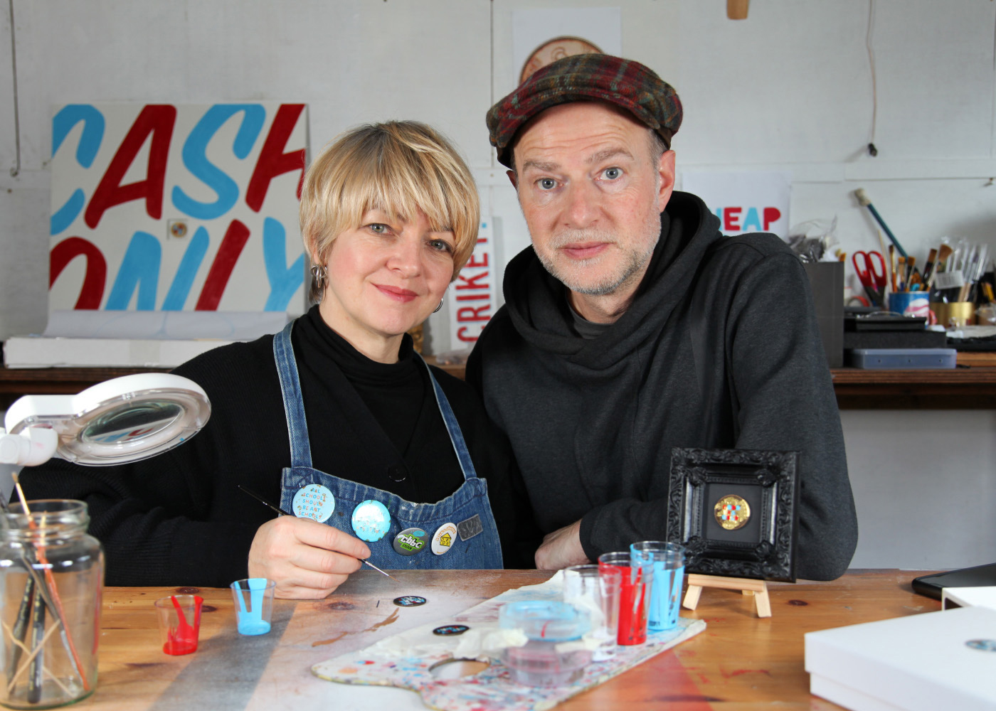 Jon and sharon gale in their studio