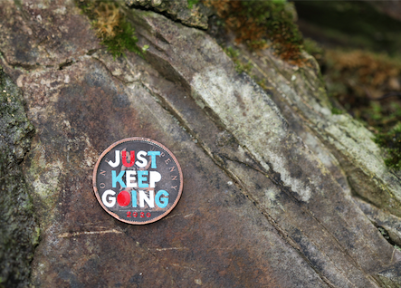 Just keep going painted on a penny.