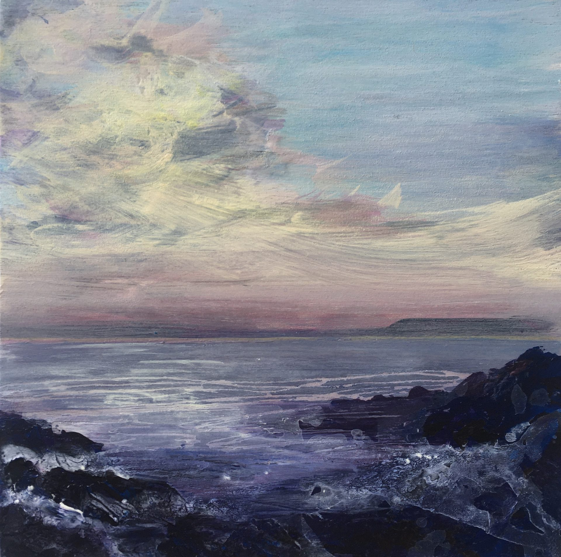 Painting of the sea and the sky