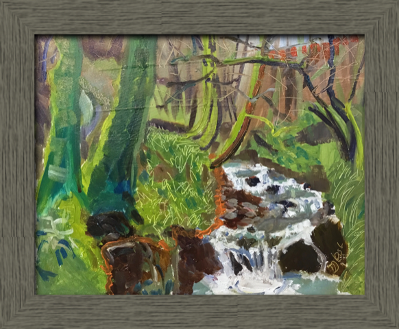 Painting of a woodland