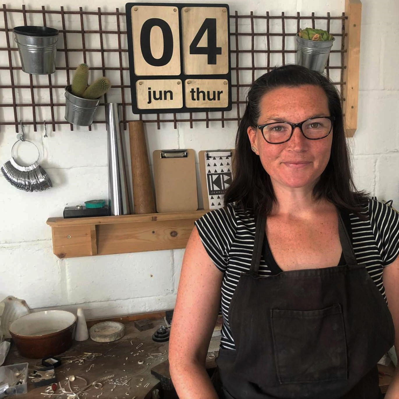 Katherine Barber in her studio
