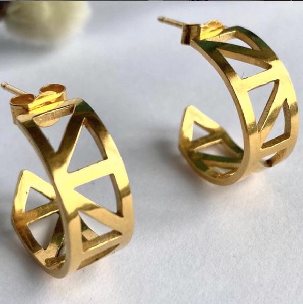 Katherine Barber Gold Stud Earrings